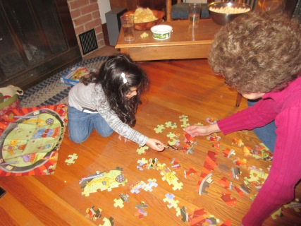 Working on the Christmas Puzzle